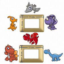 Adesivi interruttori cuccioli dinosauri switch Sticker baby dinosaurs nice 6 pz.