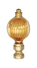 "REED DESIGN ~  BRASS BALL ~ Lamp Finial ~ Brass Finish  { 2 1/2"" Tall } ~ #GB5"