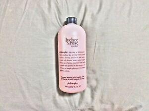 Philosophy Lychee & Rose Cooler Shampoo & Shower Gel (32 oz) Brand New & Sealed
