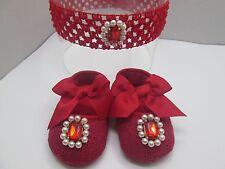 Scarpe neonata/fascia per capelli/ Calzature neonata eleganti/Completino neonata