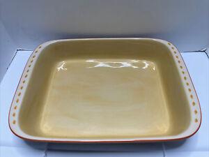 Pfaltzgraff Villa Della Luna Rectangular Lasagna Baking Dish 2004 Excellent