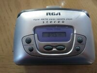 RCA Portable Digital AM FM Stereo Cassette Player Model RP-1874A Tested Freeship