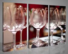 Quadri moderni su tela stampe WINE GLASSES arredo enoteca bar pizzeria 130 x 90