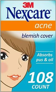 Nexcare Acne Cover, Invisible, Drug Free, 108 Count, clear