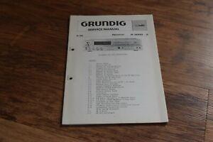 2 GRUNDIG Hi Fi Receiver R 3000 - 3 U Vintage Retro HiFi SERVICE MANUAL