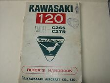 KAWASAKI OWNERS RIDERS MANUAL HANDBOOK C2SS C2TR VINTAGE 1967 OEM ORIGINAL