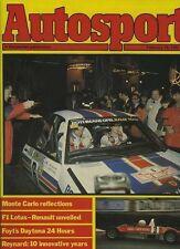 AUTOSPORT 10th FEBBRAIO 1983 * LOTUS 93T F1 AUTO Lancio *