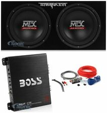 "MTX TNP212D2 Dual 12"" Terminator Series Loaded Subwoofer Bass Enclosure Package"