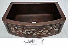 Ariellina Farmhouse 14 Gauge Copper Kitchen Sink Lifetime Warranty New AC1821