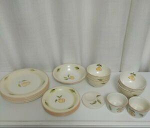 16 Dinner ceramic set. Dinner plates, side plates, bowls, salad bowl