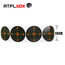 7''Bullseye Splatter and Sefl Adhesive Shooting Target Paper 100pcs/roll