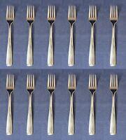 SET OF TWELVE - Delco Stainless Flatware  VILLAGE COMMON Salad Forks