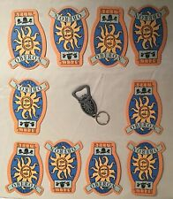 BELL OBERON BEER COASTERS 10 Count W/ Metal Key Chain (open Box)