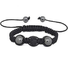 Small Size Czech Crystal Shamballa Bracelet Childrens Kids Child's Girl's -Black