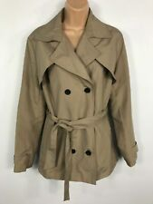 WOMENS ATMOSPHERE PRIMARK BEIGE COAT JACKET MAC WITH BELT SIZE UK 14