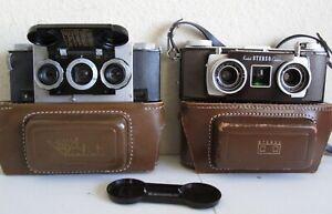 Realist 3D w/David White Lens and Kodak Stereo Cameras in Case