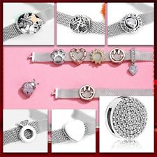 Reflexions European Clip Charms Compatible Mesh Bracelets 925 Silver Reflections