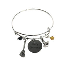 Defy Gravity Charm Bracelet Wicked The Musical Witch Broom Hat Wizard Of Oz Gift