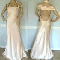Ralph Lauren Collection Purple Label Long Wedding Dress Runway Gown IT 44 / US 8