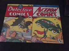 New Metal Batman Detective Comic #27 And Action Comics #1 Sign