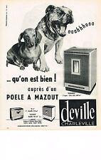 PUBLICITE ADVERTISING 014   1963   DEVILLE CHARLEVILLE    poele à mazout