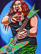 DIMEBAG DARRELL PRINT poster metal pantera cowboys from hell cd rebel guitar art