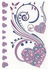 Small sheet tats hearts Temporary Tattoo NEW!