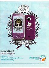 PUBLICITE ADVERTISING 2011  SAMSUNG par Lolita  lempicka