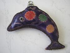Mignon Porte-monnaie en cuir sac à main en Cuir Portefeuille Porte-clés dauphin