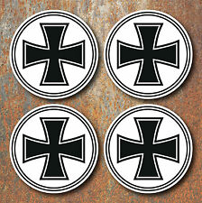 Iron Cross Wheel Centres Stickers 58mm Round Hot Rat Rod Vdub Camper Beetle D