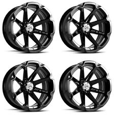 4 ATV/UTV Wheels Set 15in MSA M12 Diesel Black 4/137 10mm CAN