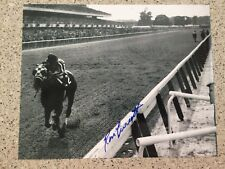 RON TURCOTTE SECRETARIAT - 1973 BELMONT STAKES SIGNED 8X10 TRIPLE CROWN #9