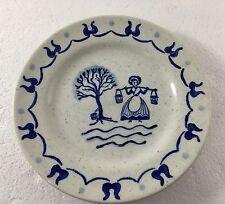 "Metlox Poppytrail Provincial Blue B&B Plate 6.5"" Made in USA Lady Pails River"