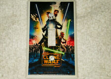 STAR WARS CLONE WARS CARTOON LIGHT SWITCH PLATE COVER USED