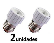 2 Adaptadores de casquillo de E27 a GU10  Envio España