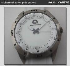 große Unisex-Uhr mit Leuchtzifferblatt #KWN8W2 in neutraler Box / Quarzuhr weiß