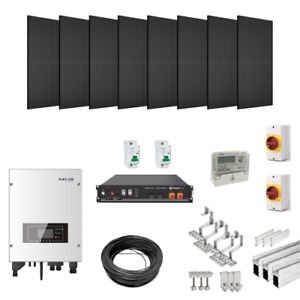 3.84kW Solar Power Kit for Tile/Slate Roofs (with 4.8kWh Hybrid Battery Storage)