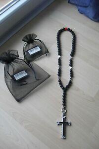! Neue Pirate-Spirit Kette mit Kreuz-Anhänger ! Halskette ! Onyx ! Bikerkette !