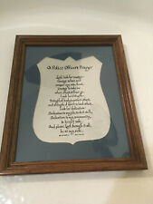 Framed Wall Art Plaque POLICE OFFICERS PRAYER Matted Framed 9 X 11 NEW other