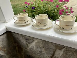 3 Sets Gorham Ariana Coffee Tea Cups and Saucers Gourmet Collection