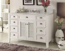 "50"" Italian Carrara marble top White Kalani Bathroom Sink Vanity Gd-3028Q50"