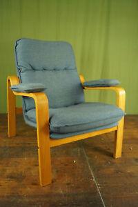60er Vintage Armchair Retro Easy Chair Westnofa Rykken Era Blue