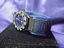 Woman's Sport Watch with Blue & Black Band**Nice** ME-1156