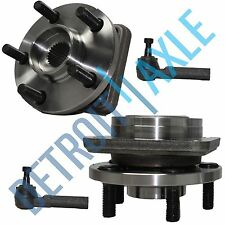 "NEW Front Driver and Passenger Wheel Hub and Bearing + Tie Rod Ends - 14"" Wheels"