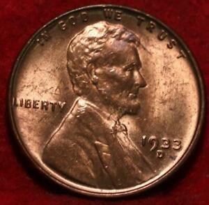 Uncirculated 1933-D Denver Mint Copper Lincoln Wheat Cent