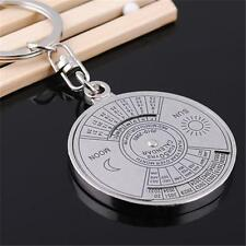 Women Men 50 Years Perpetual Calendar Keyring Keychain Metal Key Chain Ring L