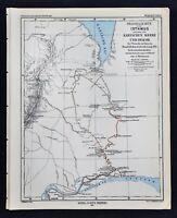 1877 Petermann Map Arctic Exploration Siberia Russia Ob River to Kara Sea Route