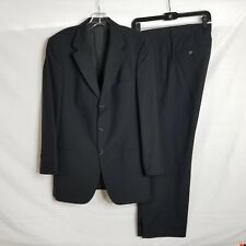 HUGO BOSS Mens Black Striped Wool Einstein Sigma Suit Blazer & Pants 40R 32x30