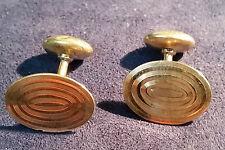 B B &R MENS 14K  GOLD  CUFF LINKS MONOGRAMMED WEC 6.1 GRAMS DBW #C1