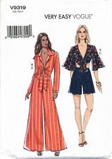 5fa70c37f818 VOGUE SEWING PATTERN 9319 MISSES 14-22 VERY EASY TIE FRONT TOPS